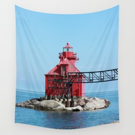 Sturgeon Bay Ship Canal North Pierhead Light House Wall Tapestry