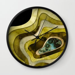Abstract Agate II Wall Clock
