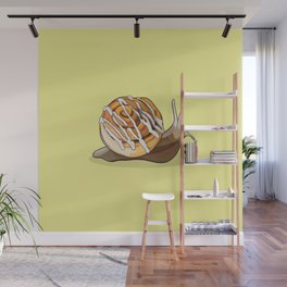 Cinnamon Bun Snail Wall Mural