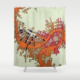 Cypher number 10 (original sold) Shower Curtain