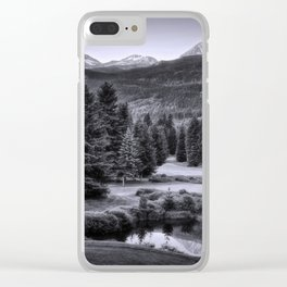 Whistler BC in Black & White Clear iPhone Case