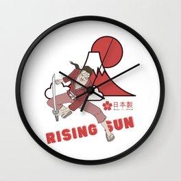 Japan rising sun samurai Wall Clock