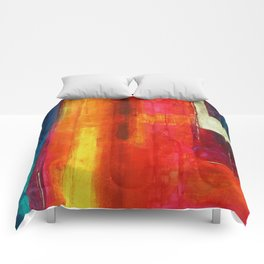 Philip Bowman Color Fields II Modern Abstract Art Painting Comforters