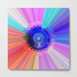 Rainbow Watercolor Striations Metal Print