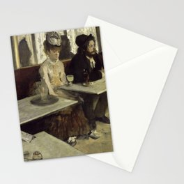 In a café (or  L'Absinthe) Stationery Cards