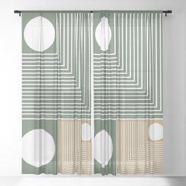 Stylish Geometric Abstract Sheer Curtain