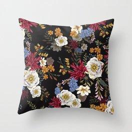 Flowerbomb Throw Pillow