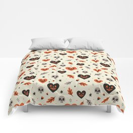 I Heart Fall Pattern Comforters