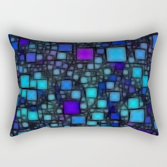 Post It Blue Glow Rectangular Pillow