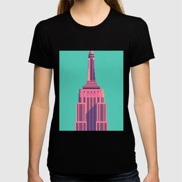 Empire State Building New York Art Deco - Green T-shirt
