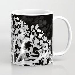 The Zen Tree - White on Black Coffee Mug