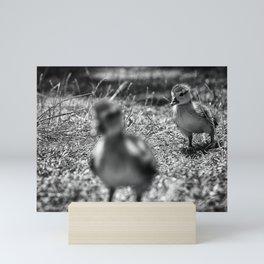 Don't Leave Me - Black & White Mini Art Print