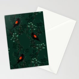 Red-Winged Blackbird Pattern Stationery Cards