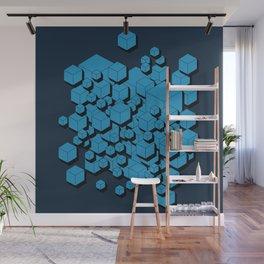 3D Futuristic Cubes VIII Wall Mural