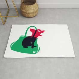 Angry animals: chihuahua - little green bag Rug