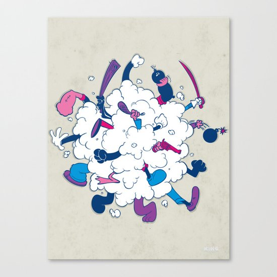 Fistycuffs Canvas Print