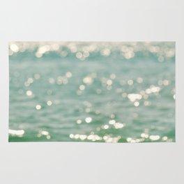 beach. bokeh sparkle. ocean. La Mer Rug