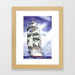 Tall Ship at Sea Framed Art Print