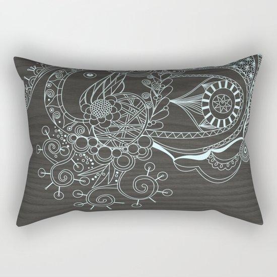 Tangle on dark wood Rectangular Pillow