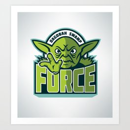 Dagobah Swamp Force Art Print