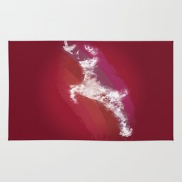 In Search Of Peace - (Maroon) Rug