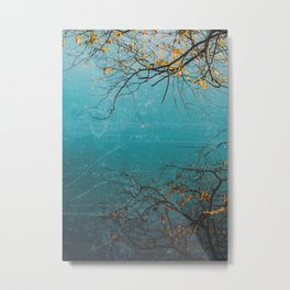 The Mirrored Tree Metal Print