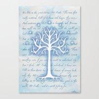 gondor Canvas Prints featuring Tree of Gondor by JadeJonesArt