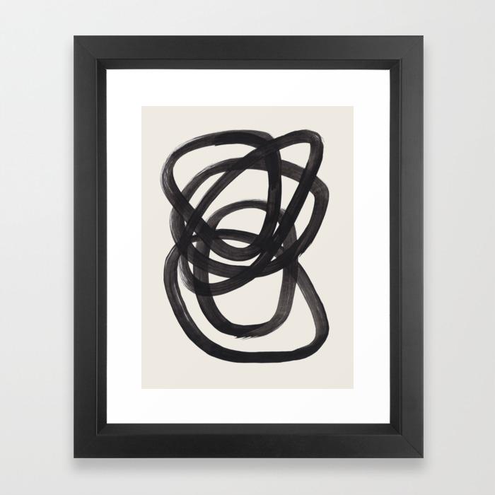 Minimalist Art Print Mid Century Modern Art Print Abstract Shape Art Print Circle Gradient Abstract Wall Art