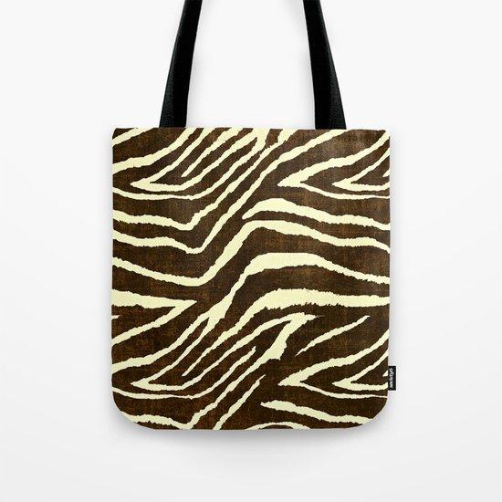 Animal Print Zebra in Winter Brown and Beige by saundramyles