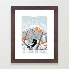 Winter in Graz Framed Art Print