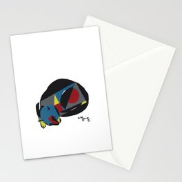 abstract sleeping cat (silkscreen) Stationery Cards