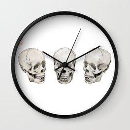 Three Skulls Wall Clock