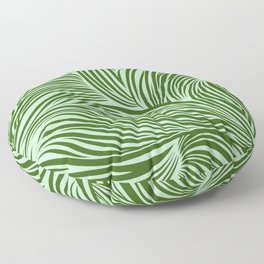 Floating lines: Green Floor Pillow