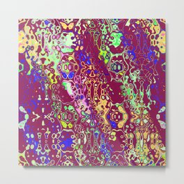 Shapes on a purple background Metal Print