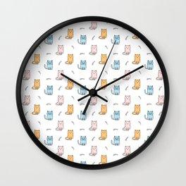 Cute cartoon cats pattern Wall Clock
