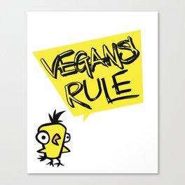 Vegans rule! Canvas Print