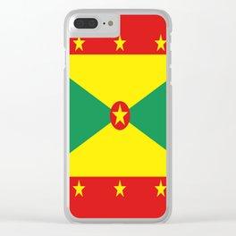 Grenada Flag Throw design Clear iPhone Case