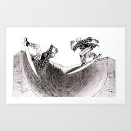Surf Skate Art Print