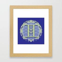 GEMINI Flower of Life Astrology Design Framed Art Print