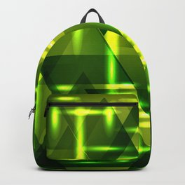 Grass plain and green intersections on a dark metal background. Backpack