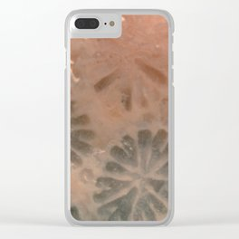 Agatized Coral Filtered Clear iPhone Case