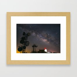 Milky Way over Mount Laguna Observatory Framed Art Print