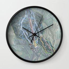Burke Mountain Resort Trail Map Wall Clock