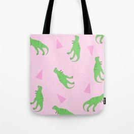 T-Rex Girly Pattern Tote Bag