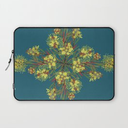 2941-Bottlebrush#1-P2-Teal Laptop Sleeve