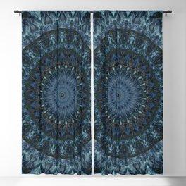 Deep blue mandala Blackout Curtain