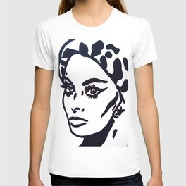 Sophia Loren Black & White Portrait Painting Movie Star  T-shirt