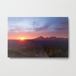 Sunset Summits Metal Print