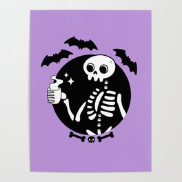 Death Before Decaf // Purple Poster