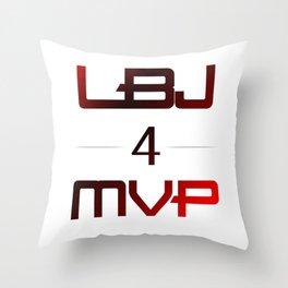LBJ MVP Throw Pillow